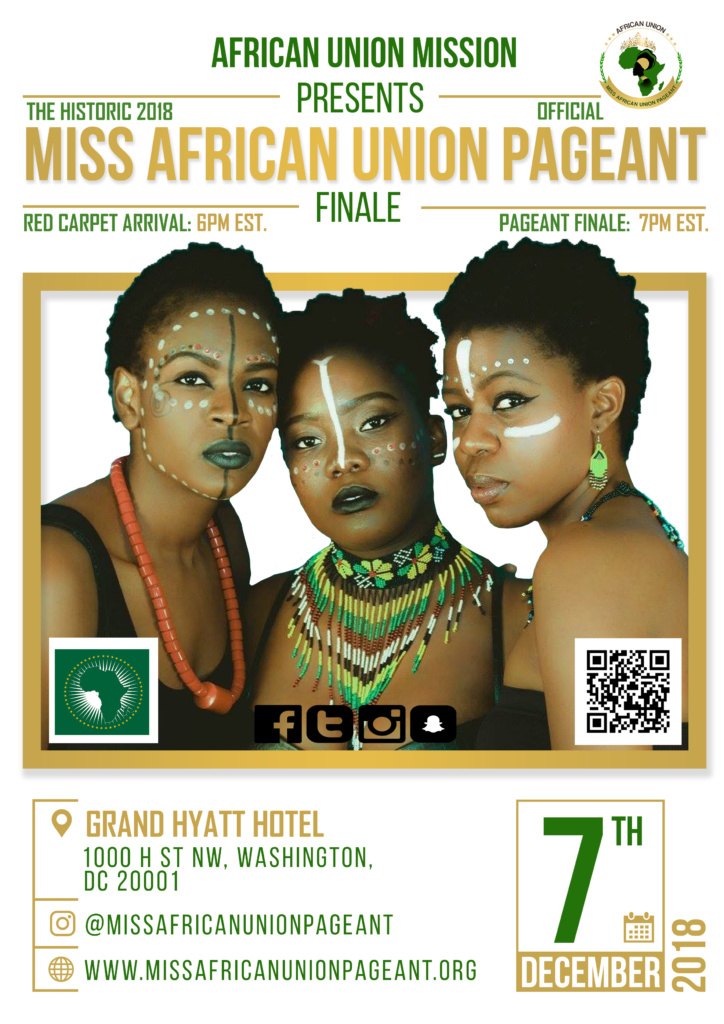 miss african union pageant flyer
